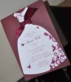DIY bridal shower invites