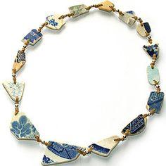 pottery shard necklace
