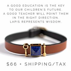 Teacher gifts are special with KEEP-Collective! Show them how much they mean with our single keeper and lapis stone for wisdom!