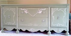 Painted Buffet.  This is just beautiful!
