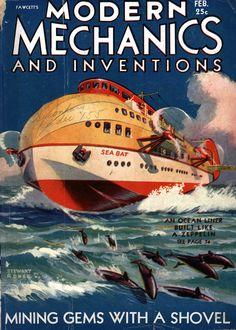 Modern Mechanix and inventions magazine | Retro futurismo | #Covers #Hobbies #30s #40s | http://defharo.com