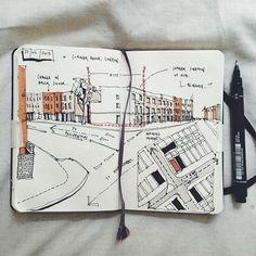 Initial site sketch, Corner House. ☺️ #art #architecture #architecturestudent… #LandscapeSketch