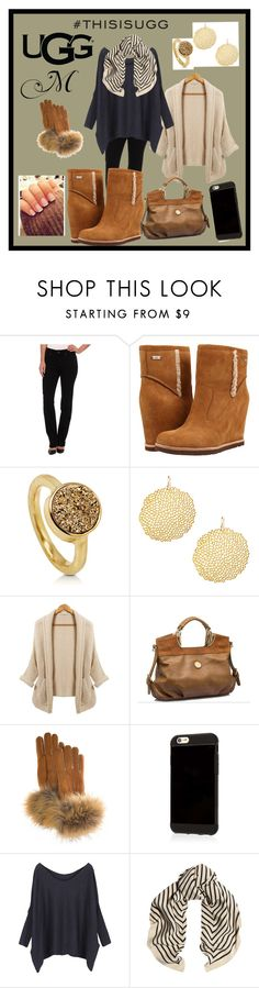 """Play With Prints In UGG: Contest Entry"" by summer-marin ❤ liked on Polyvore featuring Miraclebody Jeans by Miraclesuit, UGG Australia, BERRICLE, Chloe + Isabel, FRR and thisisugg"