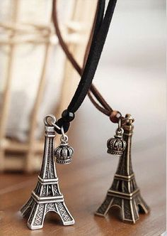 Eiffel Tower Pendant Necklaces, starting at $5.