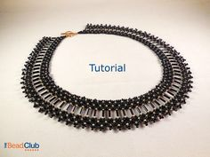 Brilliant Bugle Collar Necklace Tutorial by TheBeadClubLounge on Etsy