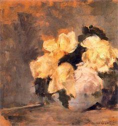 Olga Boznanska - flowers and ladies
