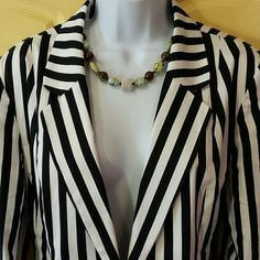 ❤Cute Jacket❤ Black and white Jacket * Lined * Very good condition! !  Like New! ! Cato Jackets & Coats