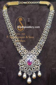 Diamond Pendant latest jewelry designs - Page 18 of 27 - Indian Jewellery Designs Gold Jewellery Design, Gold Jewelry, Fine Jewelry, Jewelry Tree, Unique Jewelry, Indian Jewelry Sets, India Jewelry, Latest Jewellery, Schmuck Design
