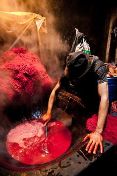 dyer of the wool (Marrakesh, Marocco)