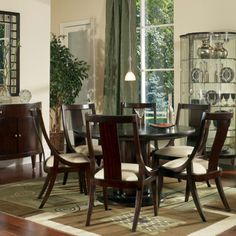 Wilshire Blvd Round Dining Table - contemporary - dining tables - - by Bernhardt