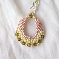 beaded earring. No pattern here, but love the colors.