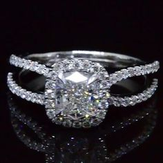 2.45 Ct. Cushion Cut Halo Diamond Engagement Ring G Color VS1 GIA Certified