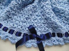 Copertine a maglia per neonati - Copertina per il maschietto