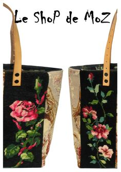 French Tapestry Purses Collection, Canvas Totes & Carpet Bags by leshOpdemOz Cross Stitch Needles, Cross Stitch Embroidery, Homemade Bags, Diy Sac, Tapestry Bag, Beautiful Bags, Needlepoint, Purses And Bags, Sewing Projects