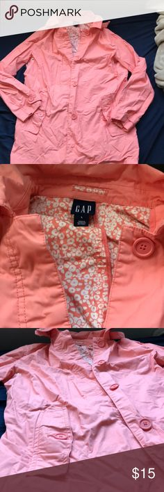 Gap peach utility jacket Peach/light pink utility jacket fro gap, size large! GAP Jackets & Coats Utility Jackets