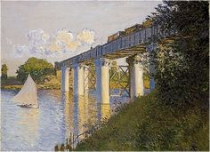 Claude Monet, The Railroad Bridge at Argenteuil, 1874 (Philadelphia Museum of Art) In nineteenth century France there was an increased i...