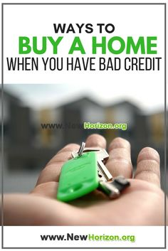 Here are few alternative options to help you get into the home of your dreams even with bad credit!