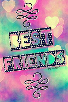 Best Friends cute bokeh iPhone/Android wallpaper I created for the app CocoPPa.
