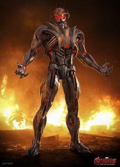 Ultron Marvel, Age Of Ultron, Marvel Villains, Marvel Comics Art, Marvel Comic Character, Marvel Characters, Hulk Buster, Solgaleo Pokemon, Marvel Concept Art