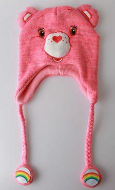Care Bears Rainbow Bear Pink Pilot Laplander Beanie CAP HAT | eBay