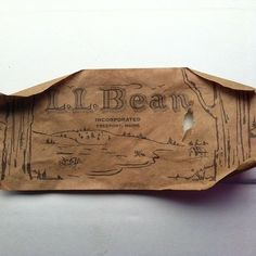 Vintage L.L.Bean shoe box tag