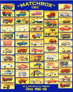 Vintage Toys Matchbox Cars from the these and Hot Wheels kept me busy when I could go outside!