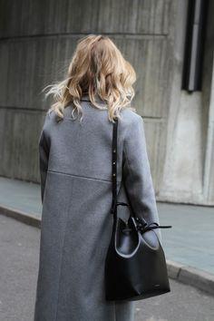 heather + black leather