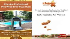 Cook a pizza in less than 70 seconds with ilFornino professional plus wood fired pizza oven.