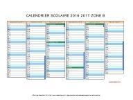 calendrier scolaire 2016 2017 zone B