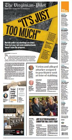 The Virginian-Pilot front page for Monday, July 28, 2014.