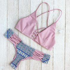Chloé X Bikini Set in Romance/Pixie - Beach Babe Swimwear®