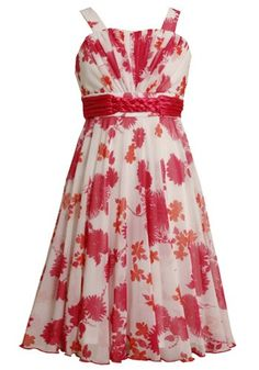 Amazon.com: Bonnie Jean Tween Girls 7-16 Floral Print Braided Waistline Chiffon Overlay Dress: Clothing