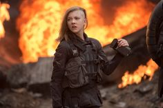 Mockingjay Part 1: Cressida, played by Natalie Dormer, in District Eight Bombing