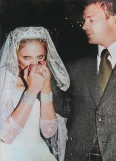 For her 2000 wedding to Guy Ritchie, Madonna paired her Stella McCartney gown with bracelets from Adler of London, a 37-carat Harry Winston cross, and a 1910 diamond tiara from Asprey