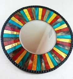 Mosaic Mirror, Stained Glass - Etsy