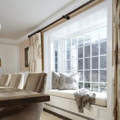 Expand the possibilities with an elegant, gently arched bow window or an angled bay window to make your home feel larger and brighter. Bay Window Living Room, Bedroom Windows, Indoor Window Planter, Square Windows, Bay Windows, Bay Window Exterior, Window Replacement, Bay Window Curtains, Arquitetura
