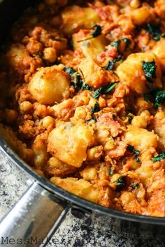 Sweet Potato and Chickpea Curry-Have most of the ingredients for this right now.  Will definitely have to make!