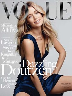 Doutzen Kroes covers the December 2012 issue of Vogue Netherlands. Photographed by Patrick Demarchelier.
