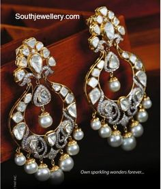 diamond chandbalis...  ❤❤♥For More You Can Follow On Insta @love_ushi OR Pinterest @ANAM SIDDIQUI ♥❤❤