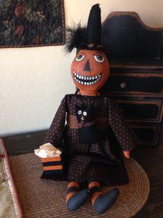 Pumpkin head witch. Mary Ann Caba