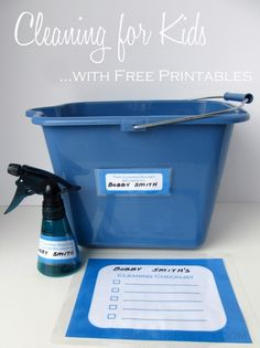 Cleaning for Kids with FREE Printable !