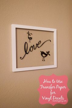 How to use Transfer Paper on Vinyl Decals