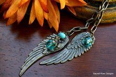 Bronze Wing Lariat Necklace