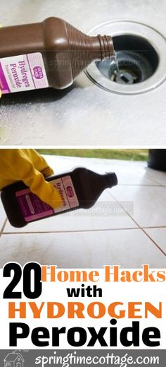 Here are some household cleaning tips and cleaning hacks you can use in your home with hydrogen peroxide. Cleaning Tips Here are some household cleaning tips and cleaning hacks you can use in your home with hydrogen peroxide. Cleaning Tips Diy Home Cleaning, Deep Cleaning Tips, Household Cleaning Tips, Cleaning Recipes, House Cleaning Tips, Natural Cleaning Products, Cleaning Hacks, Cleaning Solutions, Spring Cleaning Tips