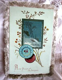 Hey, I found this really awesome Etsy listing at https://www.etsy.com/listing/255852246/antique-christmas-card-fringed-christmas