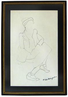 """Richard Van Wingerden, 1940-1960s, Ink on Paper, 13.5""""x20"""""""