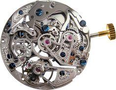 Alexander Shorokhoff. Leo Tolstoi Unique. Cal. 3133.AS mechanical chronograph, skeletonised  hand engraved, gold plated or rhodium plated. blue-dyed screws  #movement #uhrwerk #werk #uhren #technik #schmuck