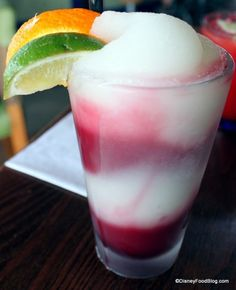 Mangled Margarita -- layers of frozen margarita and sangria. Paradiso 37, Downtown #Disney