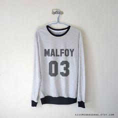 Draco Malfoy Shirt / Harry Potter Shirt / by KissMeBangBang