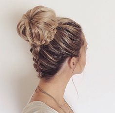 Bun with a braid